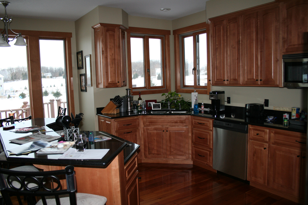The Kitchen Is One Of The Most Used Rooms In A Home. Having An Area Like  This With The Raised Snack Bar It Gives A Place To Sit And Do Homework  While ...