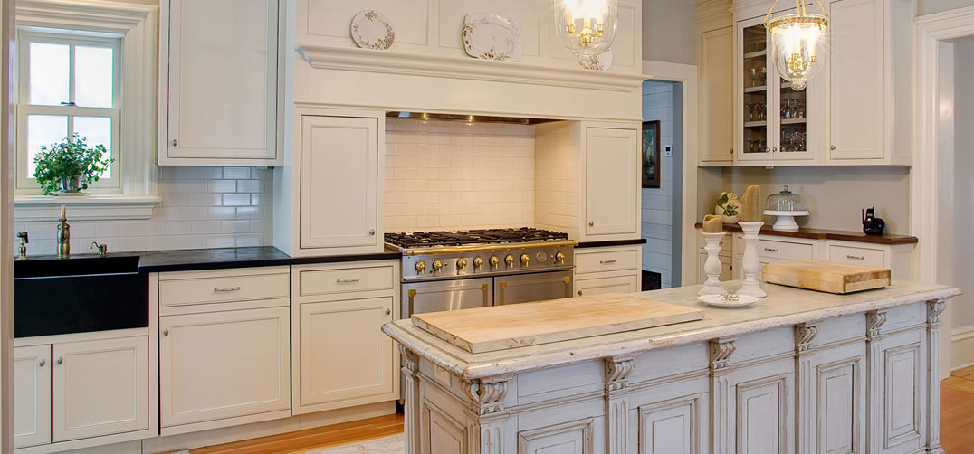 oak cabinets painted