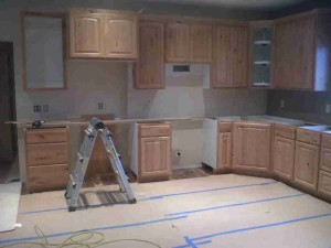 Custom kitchen cabinets new construction rustic cherry