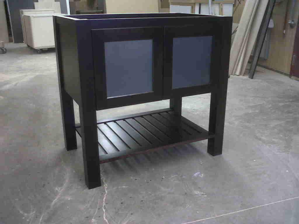 Custom Stain Birch Vanity Inset Doors Frosted Glass Stillwater MN