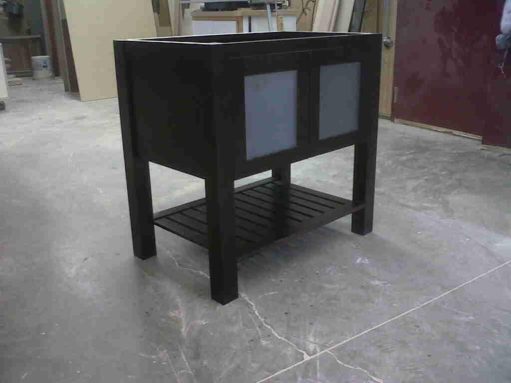Nice Stained Birch Furniture Style Vanity Stillwater MN