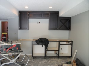Custom built Stained Birch bar area Basement remodel Stillwater Mn