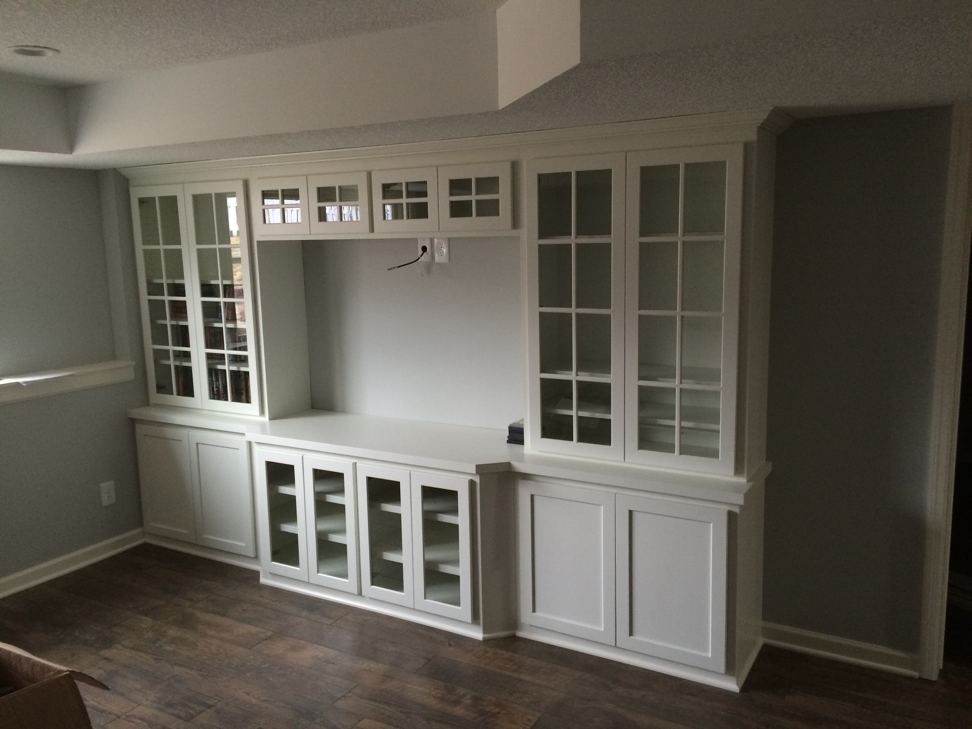 Stillwater Mn Bat Remodel Built Ins Media Center Painted Cabinetry