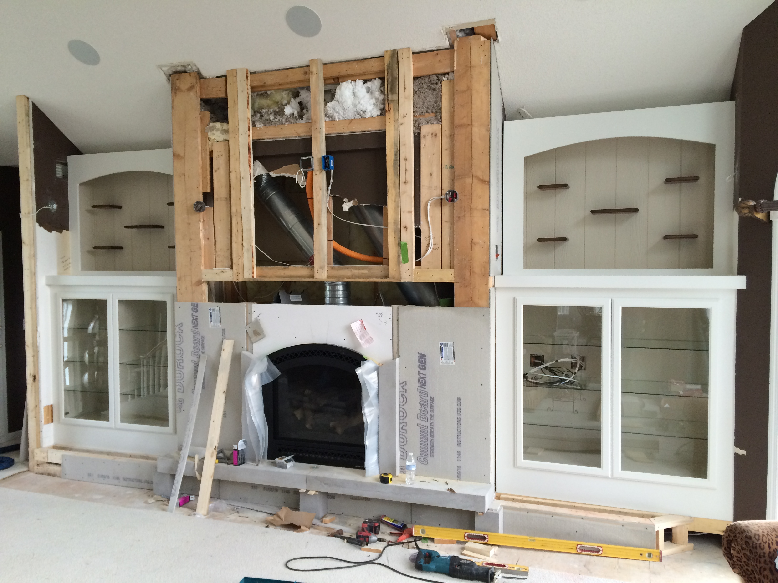 Custom Fireplace Cabinetry Built Ins Floating Shelves Stillwater MN