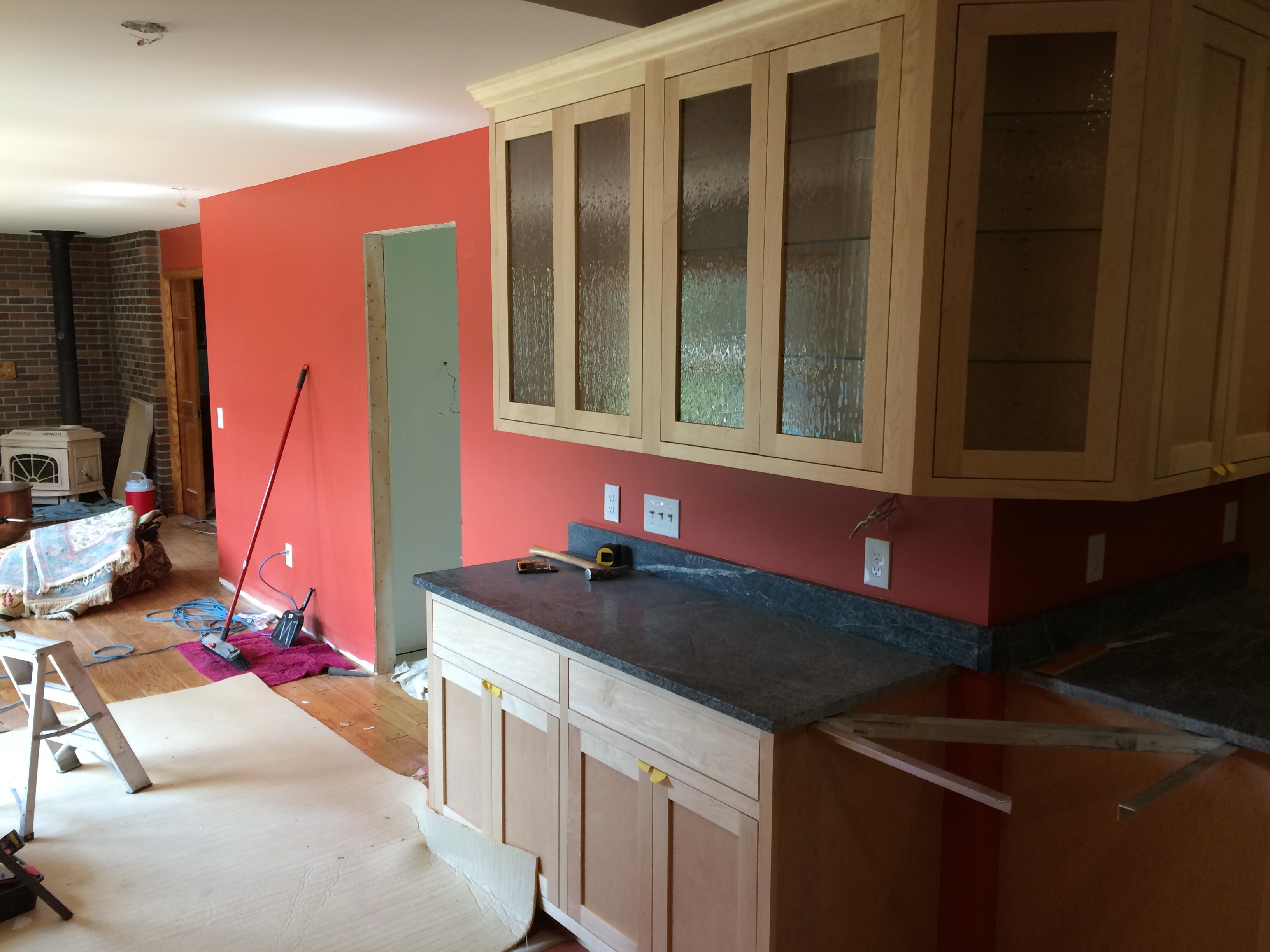 Mn Custom Maple Cabinets Kitchen Remodel Decorative Gl In Buffet Area