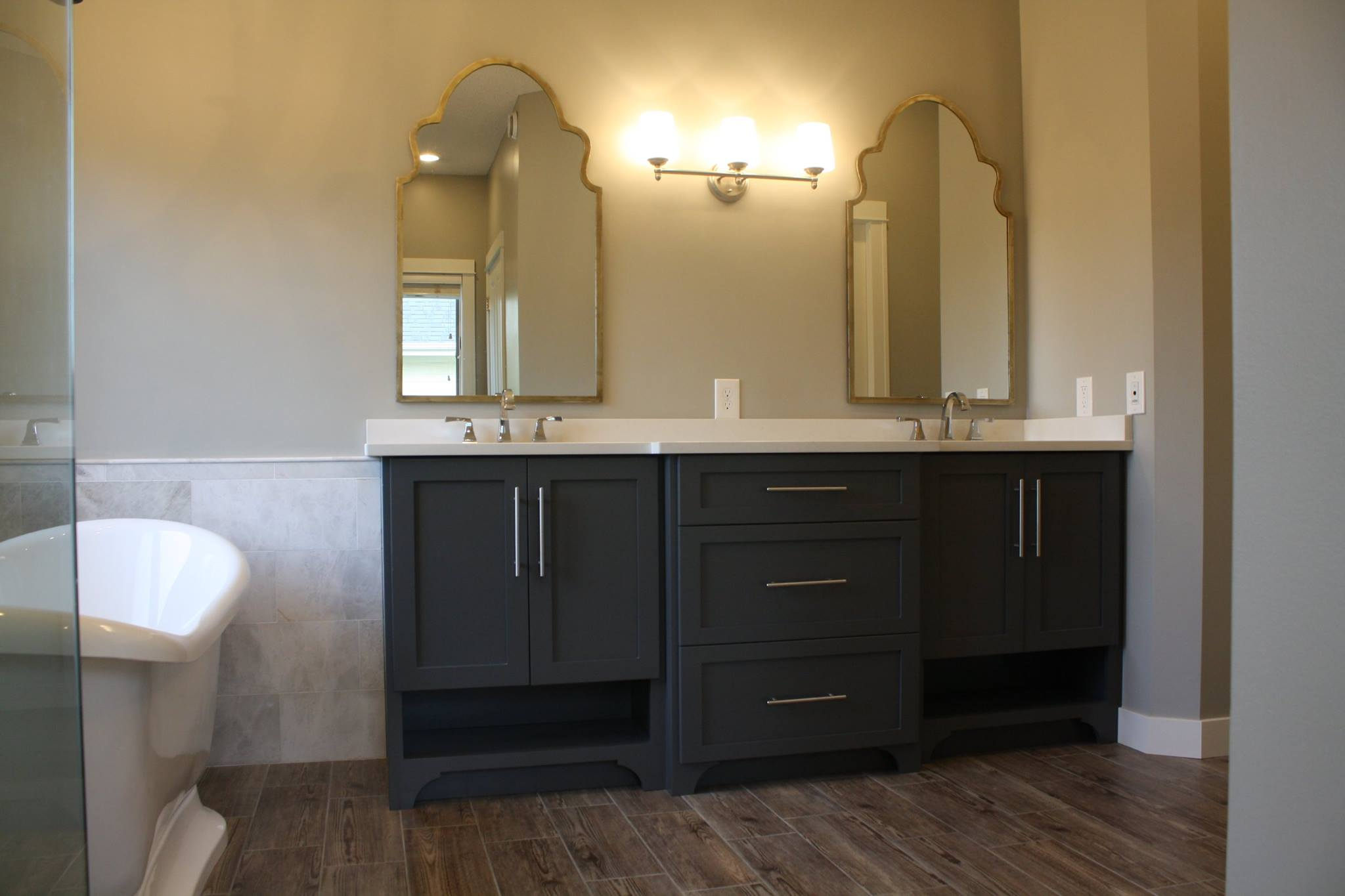 Custom Bathroom Vanities Kitchen Schrock Cabinets Semi Custom